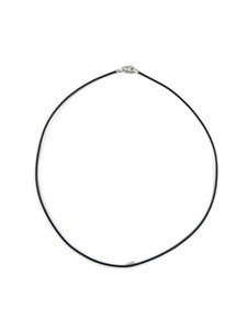 "Black Leather 1.5 mm Cord Necklace 16"" (LNK2-16)"