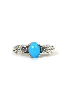 Sleeping Beauty Turquoise Ring Size 7 by Les Baker Jewelry (RG2085)
