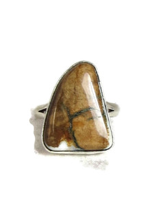 Fossilized Mammoth Tooth Ivory Ring Size 7 by Lyle Piaso (RG4529)