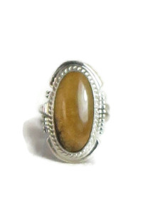 Fossilized Mammoth Tooth Ivory Ring Size 6 by Larson Lee (RG4530)