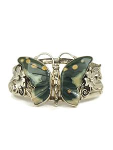 Leopard Jasper Butterfly Bracelet by Les Baker Jewelry (BR3057)