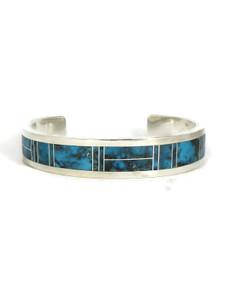 Kingman Turquoise Inlay Bracelet by Thomas Francisco (BR6258)