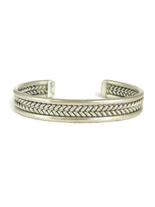 Silver Cuff Bracelet by Elaine Tahe (BR4194)