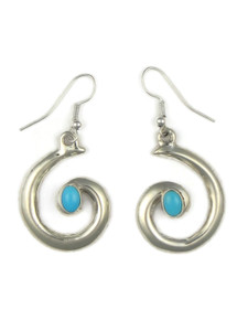 Sleeping Beauty Turquoise Swirl Earrings by Mildred Parkhurst (ER5422)