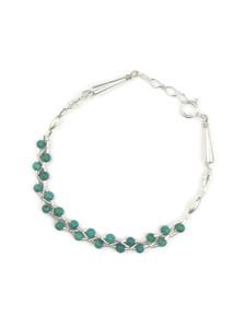 Liquid Silver Turquoise Bead Bracelet (LSBRTQ100)