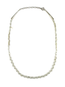 Liquid Silver Silver Bead Necklace (LSNKSB100)