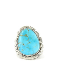 Kingman Turquoise Ring Size 8 by Lucy Jake (ER4537)