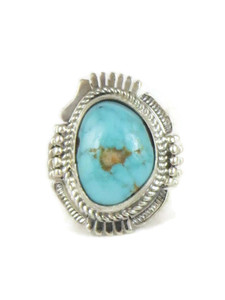 Royston Turquoise Ring Size 8 1/2 by Bennie Ration (RG4539)