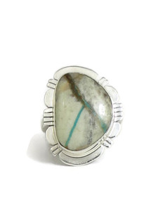 Boulder Turquoise Ring Size 9 by Phillip Sanchez (RG4540)