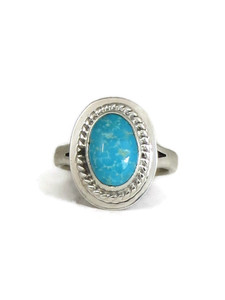 Kingman Bird's Eye Turquoise Ring Size 7 by Lyle Piaso (RG4542)