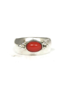 Mediterranean Coral Ring Size 8 by Fredrick Chavez (RG4544-S8)