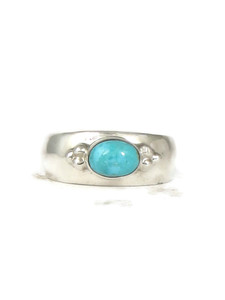 Sleeping Beauty Turquoise Ring Size 9 by Fredrick Chavez (RG4546-S9)