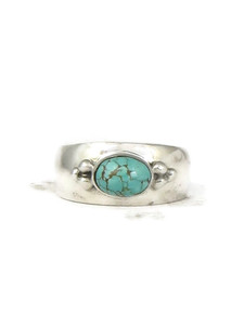 Sleeping Beauty Turquoise Ring Size 6 by Fredrick Chavez (RG4546-S6)