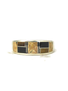 Jasper, Tiger Eye & Jet Inlay Ring Size 11 1/2 (RG4554)
