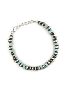 Larimar Silver Bead Bracelet (BR6268)