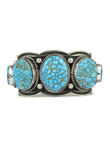 Kingman Turquoise Row Bracelet by Andy Cadman (BR6270)