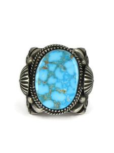 Kingman Turquoise Ring Size 11 1/4 by Delbert Gordon (RG6701)