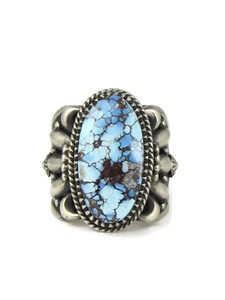 Kingman Turquoise Ring Size 10 by Delbert Gordon (RG6702)