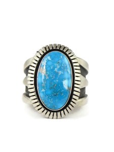 Kingman Turquoise Ring Size 11 by Cooper Willie (RG6703)
