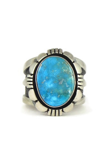 Kingman Turquoise Ring Size 10 by Cooper Willie (RG6704)