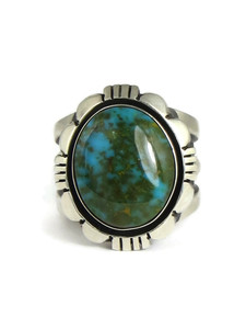 Pilot Mountain Turquoise Ring Size 9 1/2 by Cooper Willie (RG6705)