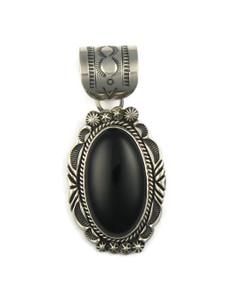 Silver Black Onyx Pendant by Rick Werito (PD4229)