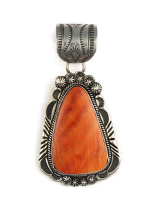 Large Orange Spiny Oyster Shell Pendant by Rick Werito (PD4230)