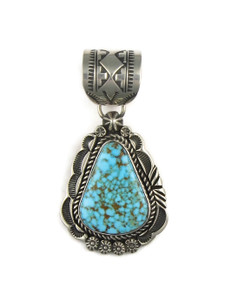 Kingman Turquoise Pendant by Rick Werito (RGPD4232)