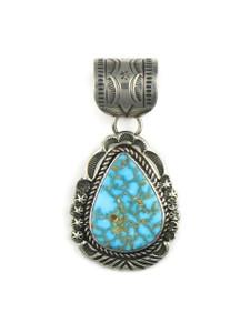 Kingman Turquoise Pendant by Rick Werito (PD4233)