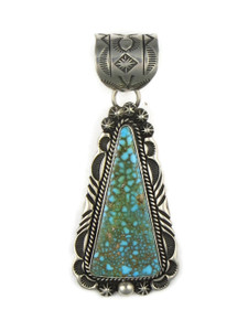 Large Kingman Turquoise Pendant by Rick Werito (PD4234)