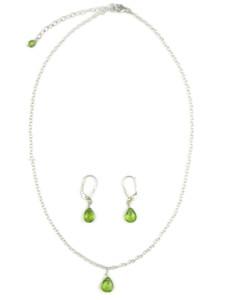 Peridot Necklace & Earring Set (NK4694)