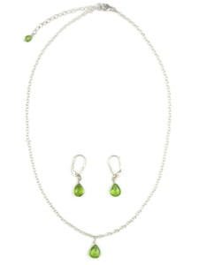 Peridot Necklace & Earring Set (NK4694)
