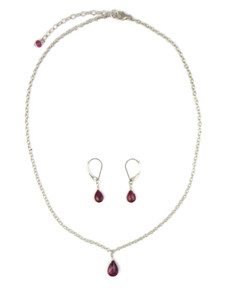 Ruby Necklace & Earring Set (NK4697)