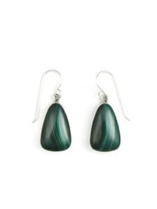 Silver Malachite Earrings (ER5426)