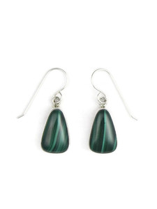 Silver Malachite Earrings (ER5427)
