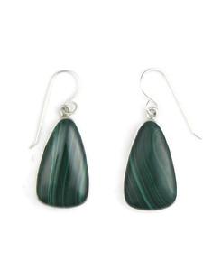 Silver Malachite Earrings (ER5428)