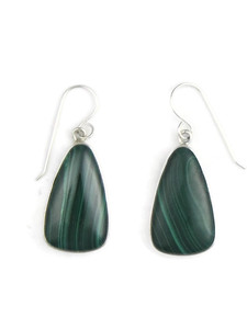 Silver Malachite Earrings (ER5428)