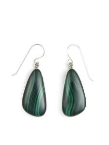 Silver Malachite Earrings (ER5429)