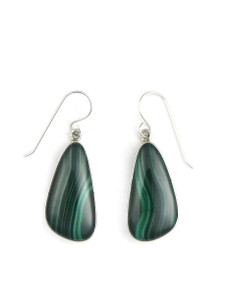 Silver Malachite Earrings (ER5429)