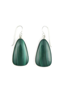 Silver Malachite Earrings (ER5430)
