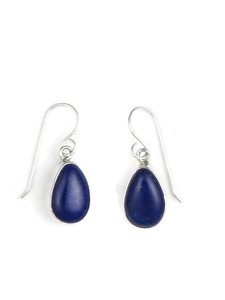 Silver Lapis Earrings (ER5432)