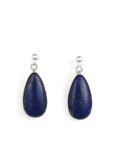 Silver Lapis Earrings (ER5434)