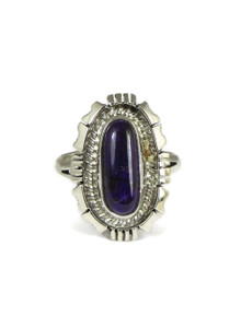 Silver Sugilite Ring Size 8 (RG4580)