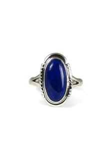 Silver Lapis Ring Size 9 (RG4583)