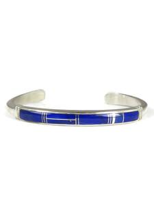 Silver Lapis Inlay Bracelet (BR6272)