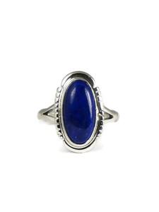 Silver Lapis Ring Size 7 (RG6706)
