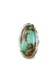 Royston Turquoise Ring Size 10 by Arlene Yazzie (RG6715)