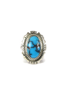 Egyptian Turquoise Ring Size 7 1/4 by Norvin Johnson (RG4579)