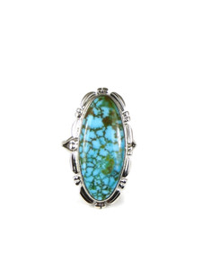 Kingman Turquoise Ring Size 9 by Thomas Francisco (RG4588)