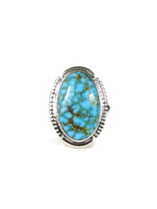 Kingman Turquoise Ring Size 6 by Thomas Francisco (RG4589)